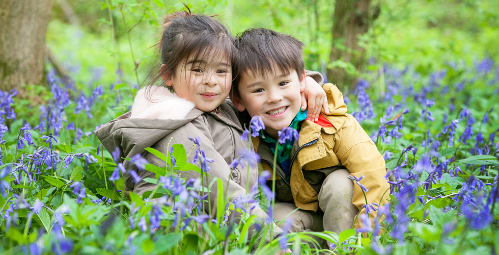 bluebells kids photography session
